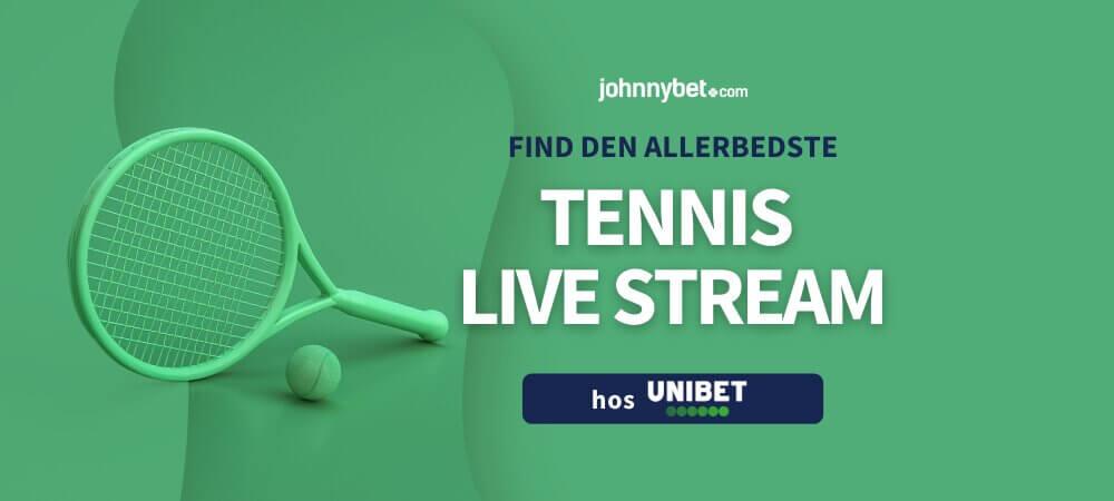 Tennis live stream banner unibet