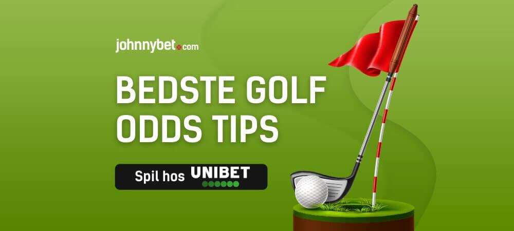 Golf spiltips banner unibet