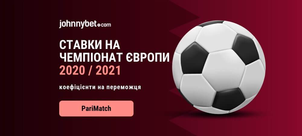 Ставки на Євро 2020 / 2021