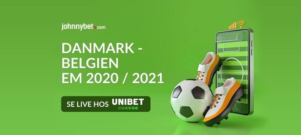 Danmark belgien live stream banner unibet