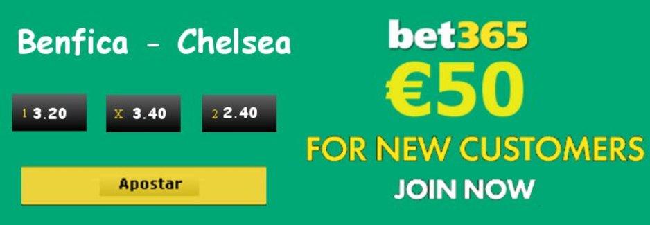 Benfica - Chelsea Quotas De Apostas Desportivas