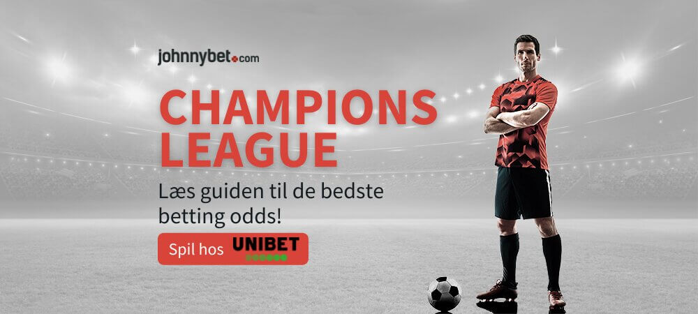 Odds paa champions league banner unibet