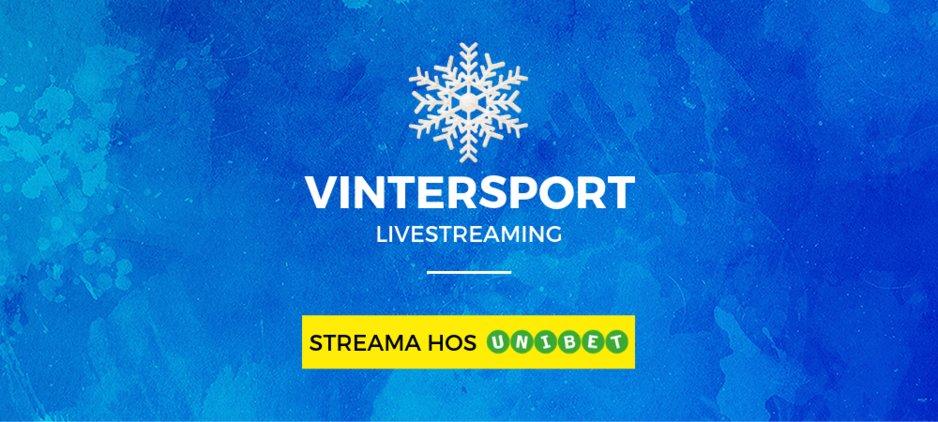 Livestreaming vintersport unibet