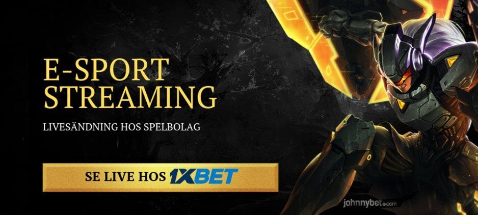 Streama e-sport gratis