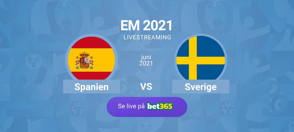 Streama Sverige - Spanien