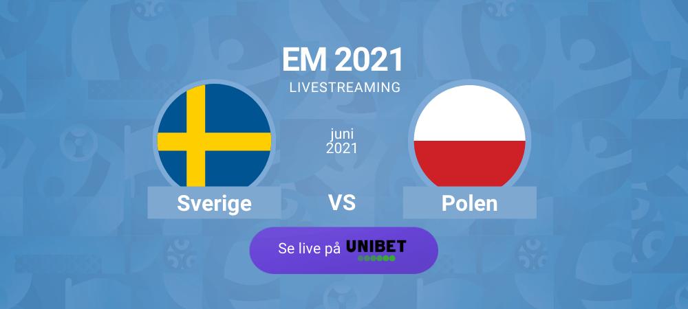 Sverige polen em fotboll streaming unibet