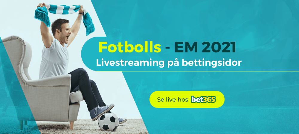 Streama fotbolls-EM 2020 / 2021 gratis