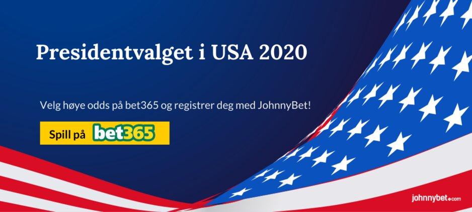 Presidentvalget i USA 2020 odds