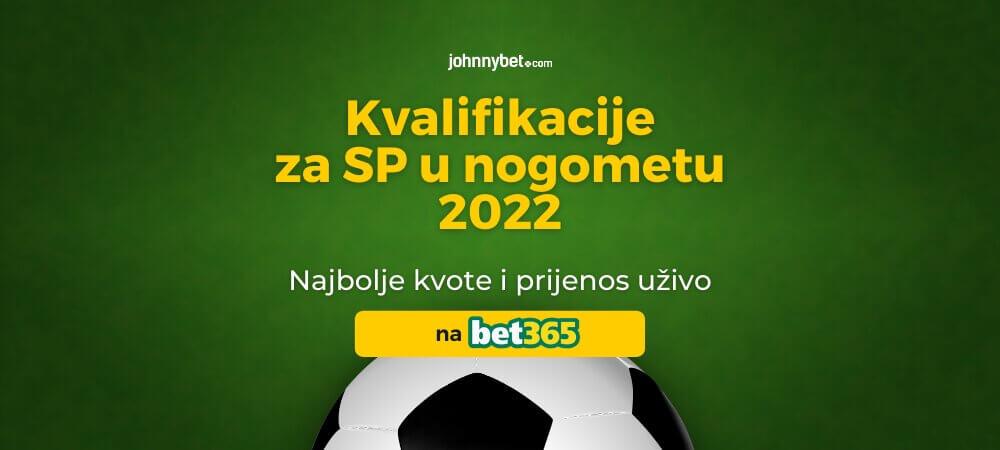 Kvalifikacije za SP u 2022 u Nogometu Kladionica