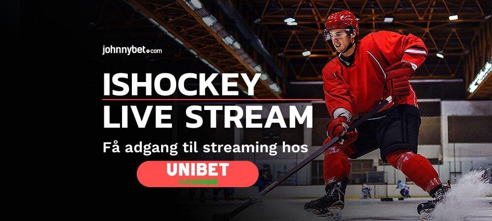 Ishockey live stream banner unibet