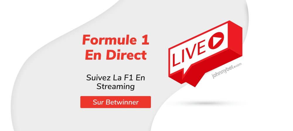 Formule 1 streaming en direct sur betwinner