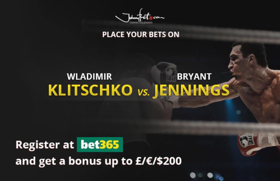Klitschko vs Jennings Betting Odds