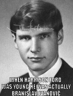 Young harrison ford branislav ivanovic memes