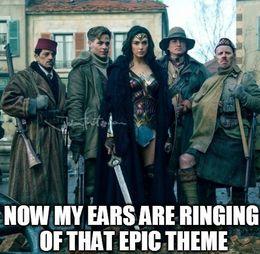 Wonder woman epic theme memes