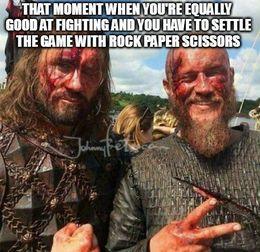 Rock paper scissors vikings memes