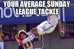 Sunday league tackle memes