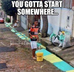Start somewhere memes