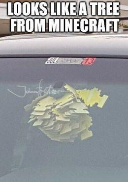 Minecraft tree memes
