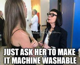 Machine washable memes
