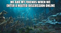Heated discussion memes