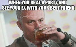 At a party memes