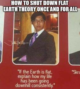Flat earth theory memes