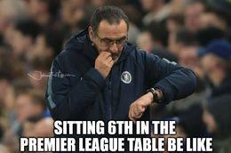 Premier league table memes