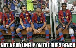Subs bench memes