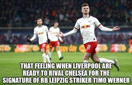 Leipzig striker memes