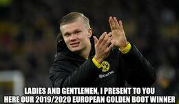 Golden boot winner memes