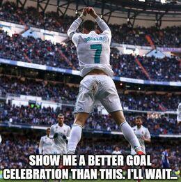 Goal celebration memes