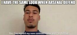 Arsenal defend memes