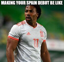 Spain debut memes
