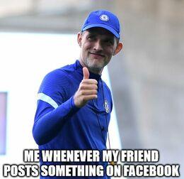 On facebook memes