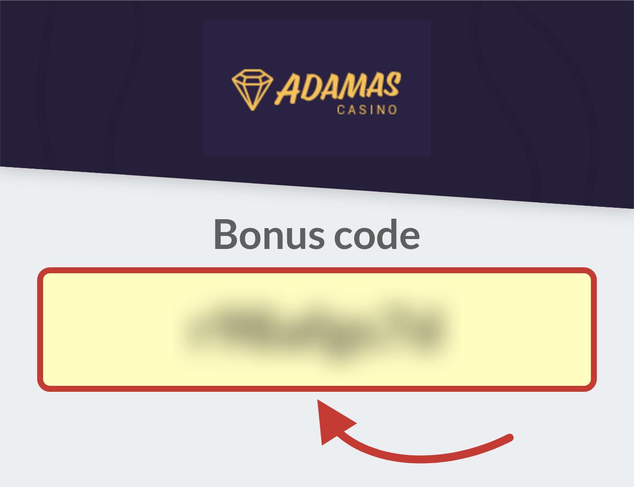 Adamas Casino Bonus Code