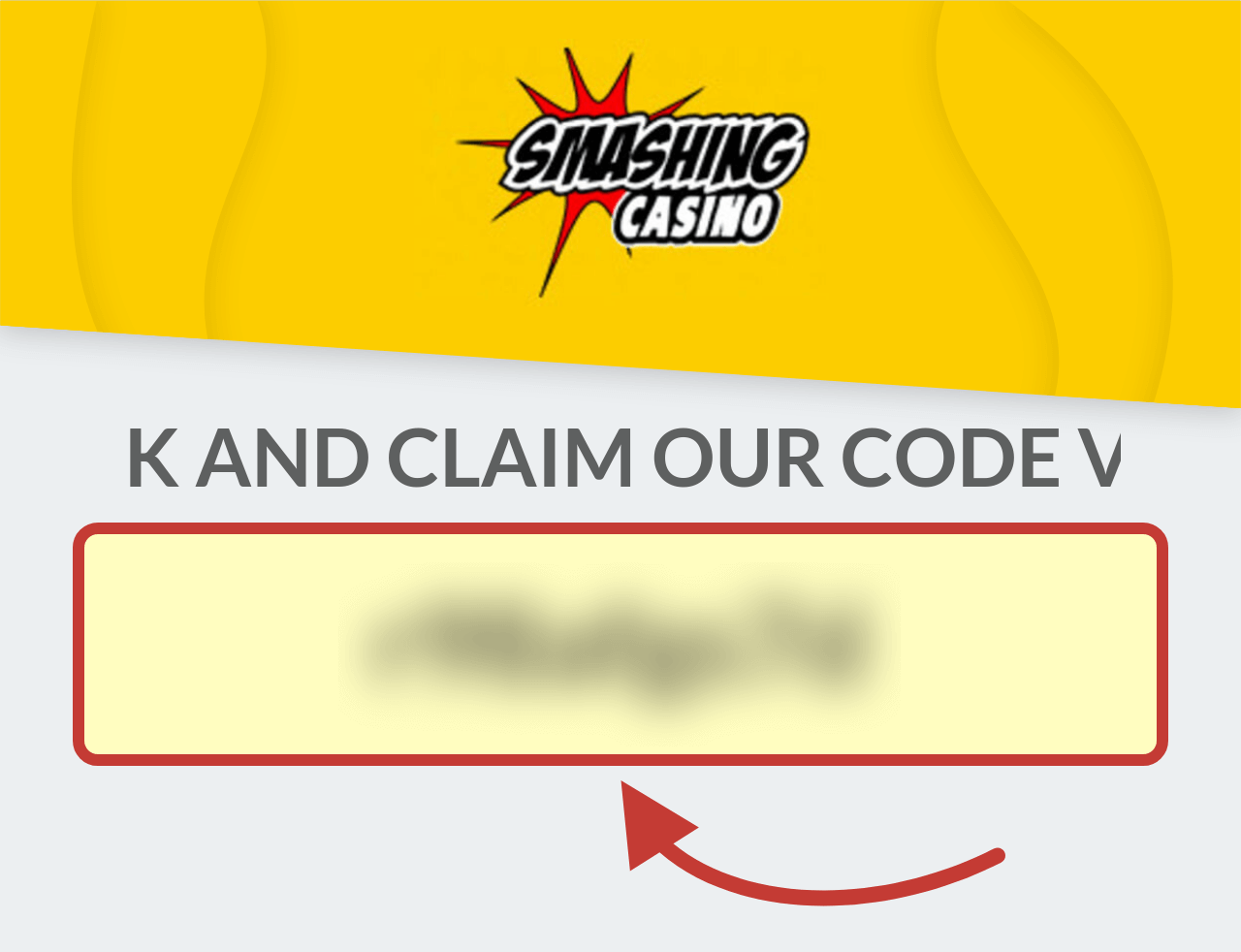 Smashing Casino Registration Bonus Code