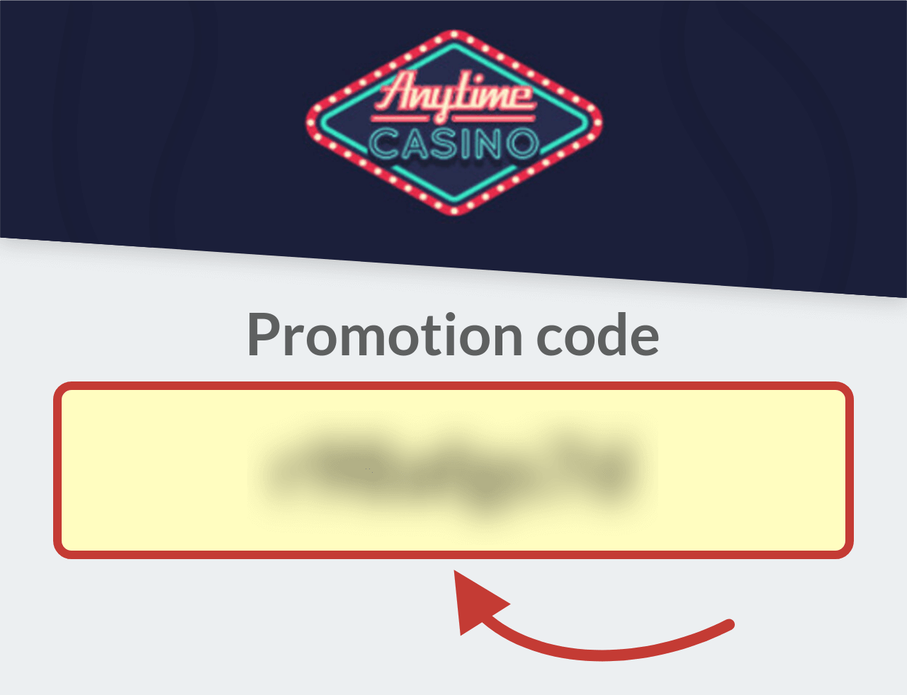 Anytime Casino Promotion Code