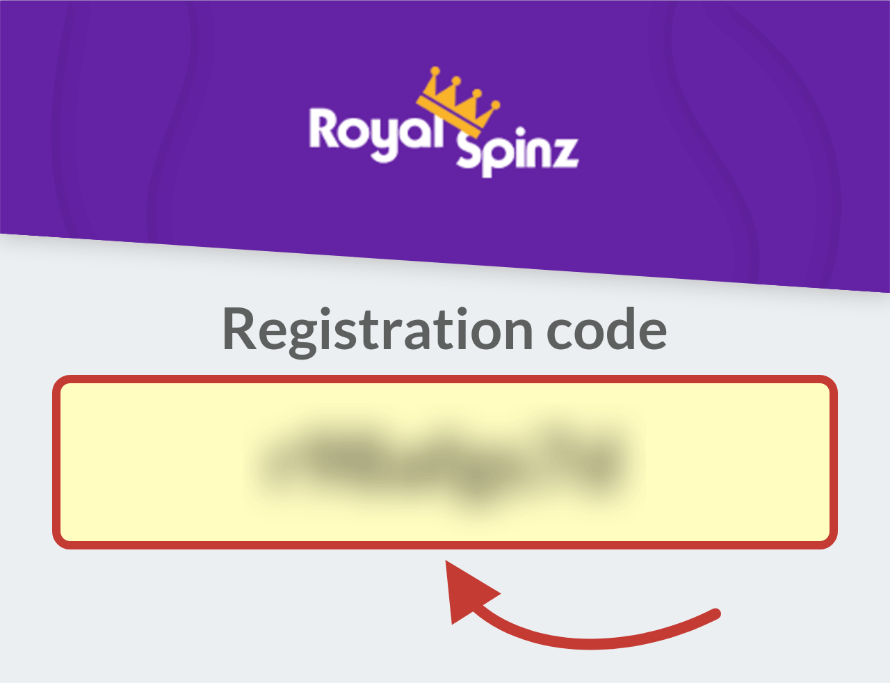 RoyalSpinz Casino Registration Code