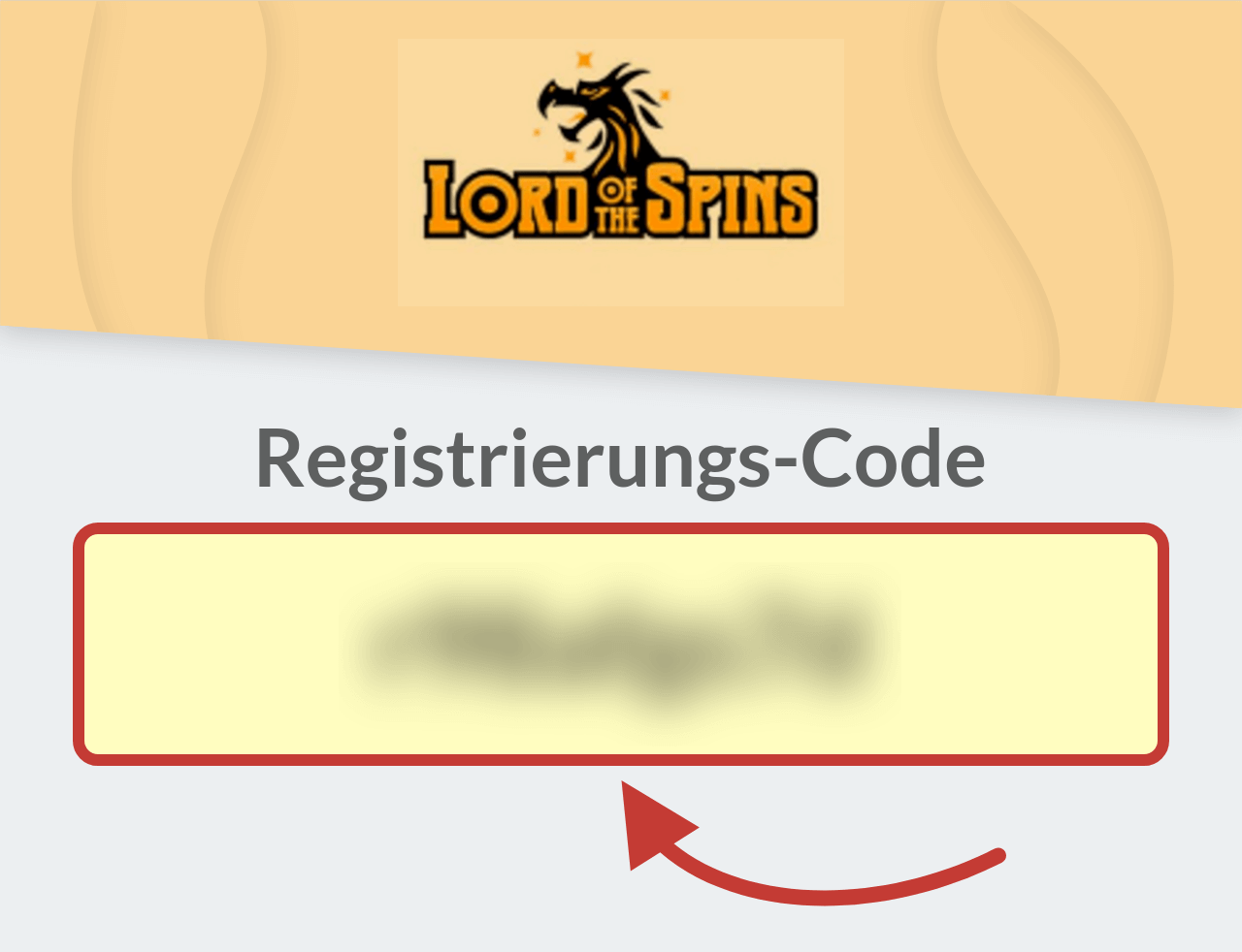 Lord of the Spins Registrierungs-Code
