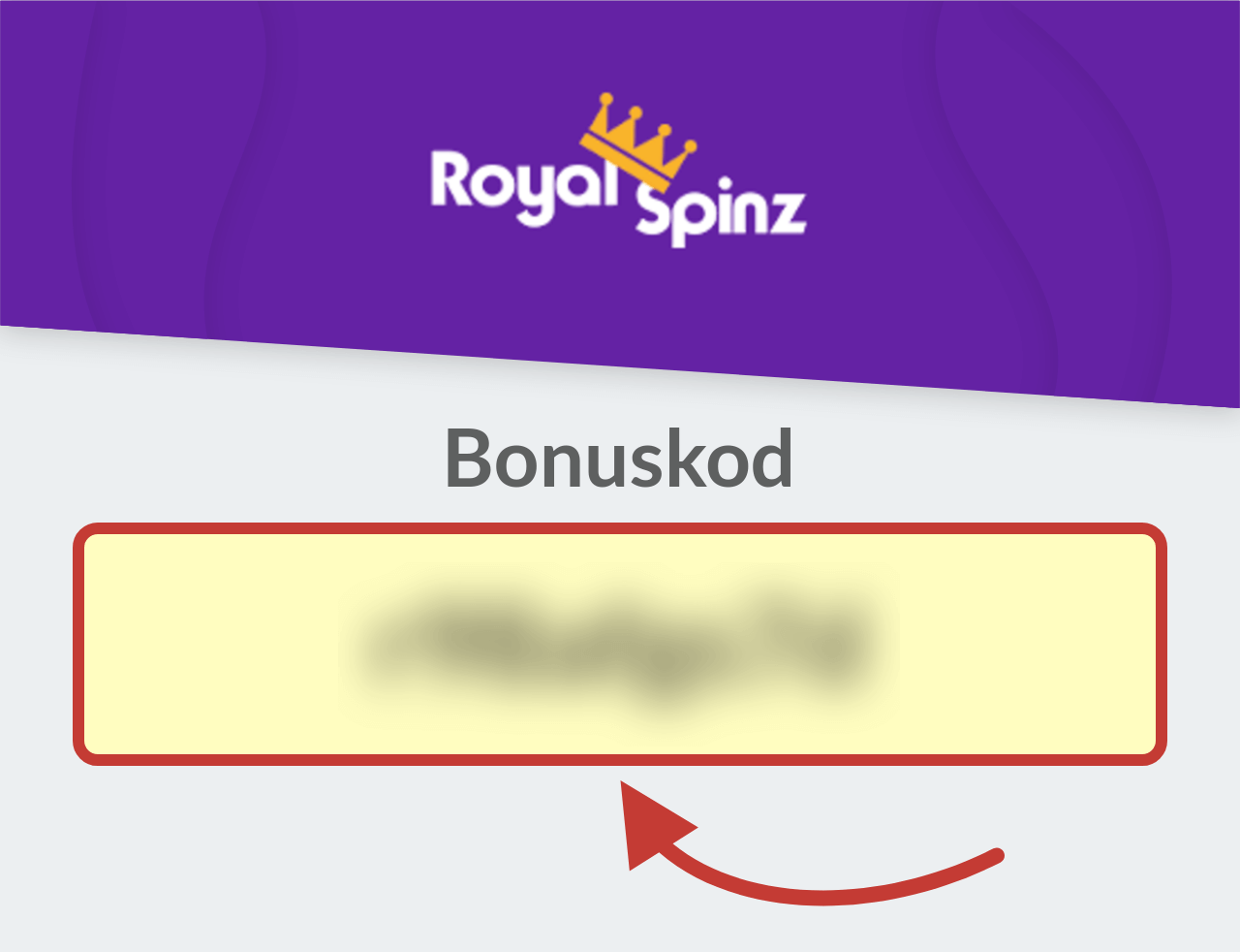 RoyalSpinz Casino Bonuskod