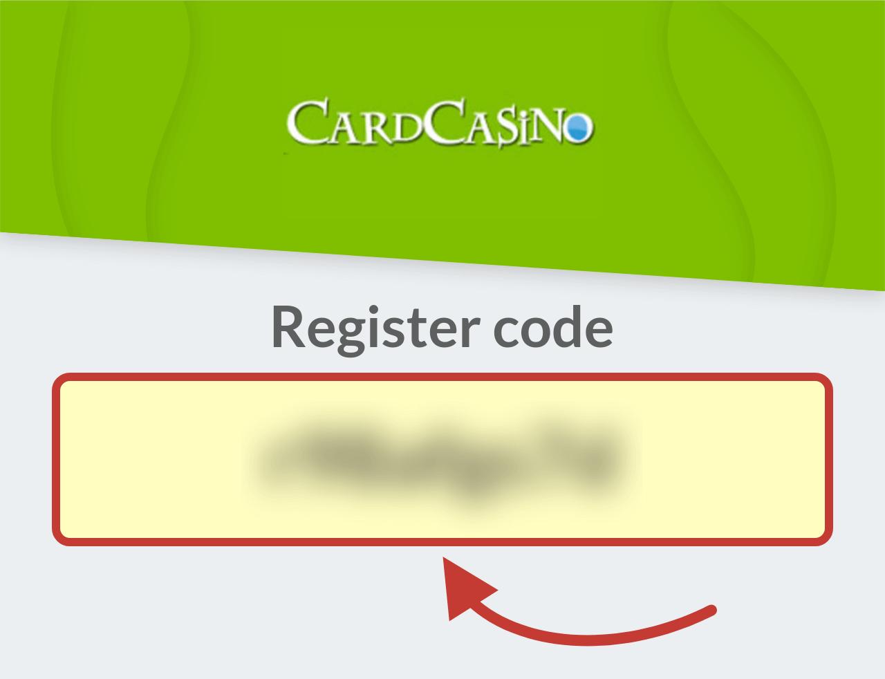 CardCasino Register Bonus Code