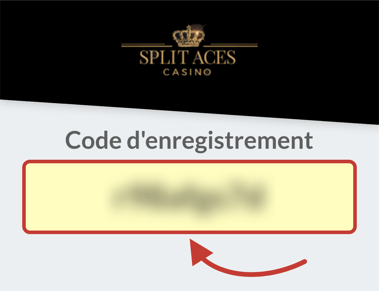 Code d'enregistrement Split Aces Casino