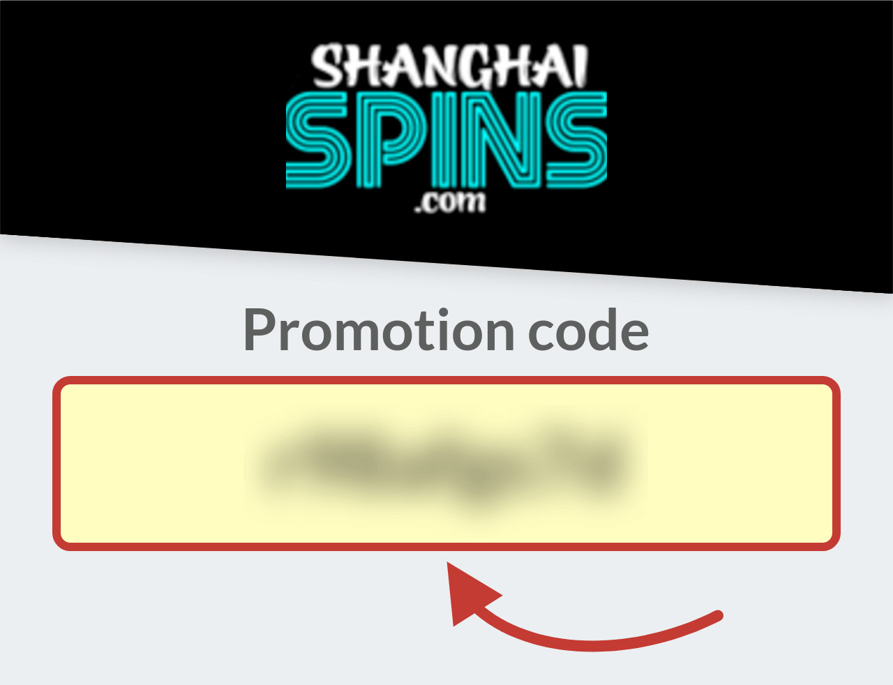 Shanghai Spins Promotion Code