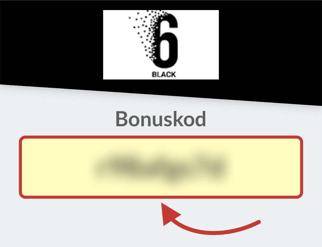 6Black Casino Bonuskod