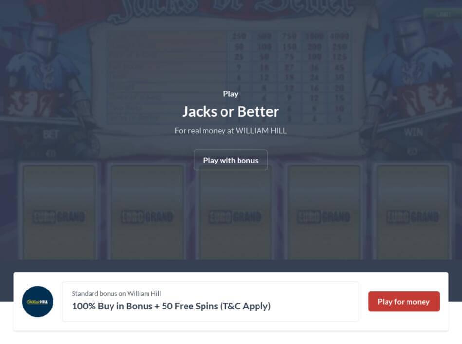 Jacks or Better Video Poker Free Download