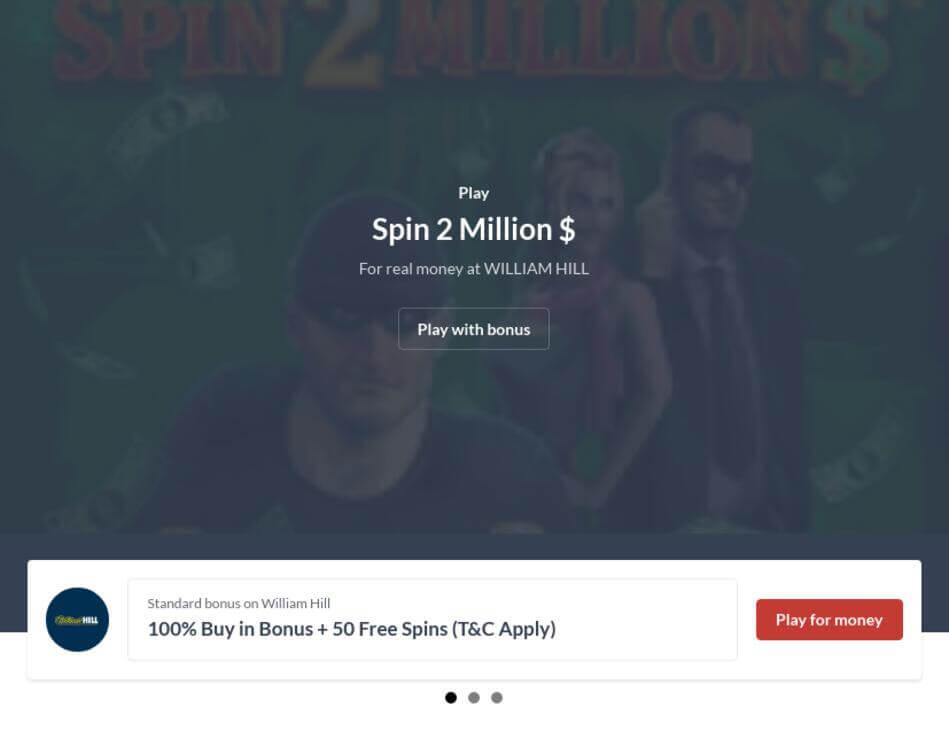 Spin 2 Million $ Slot Machine