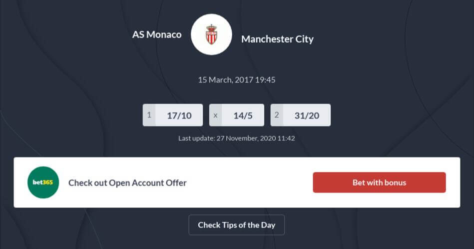 Monaco vs Manchester City Predictions, Betting Tips, Odds - Preview
