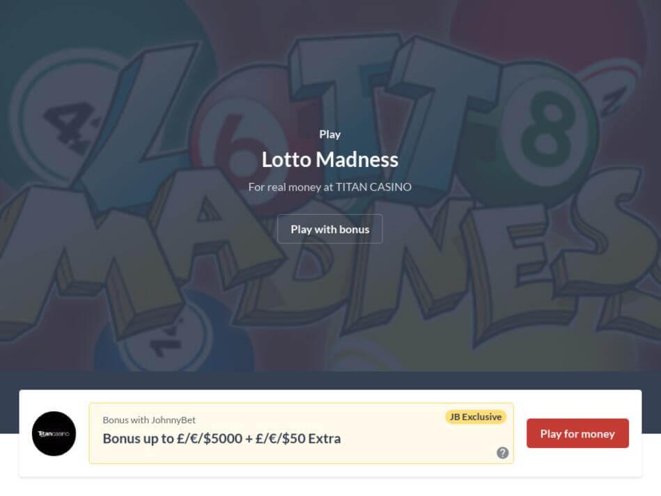Lotto Madness Slot Machine