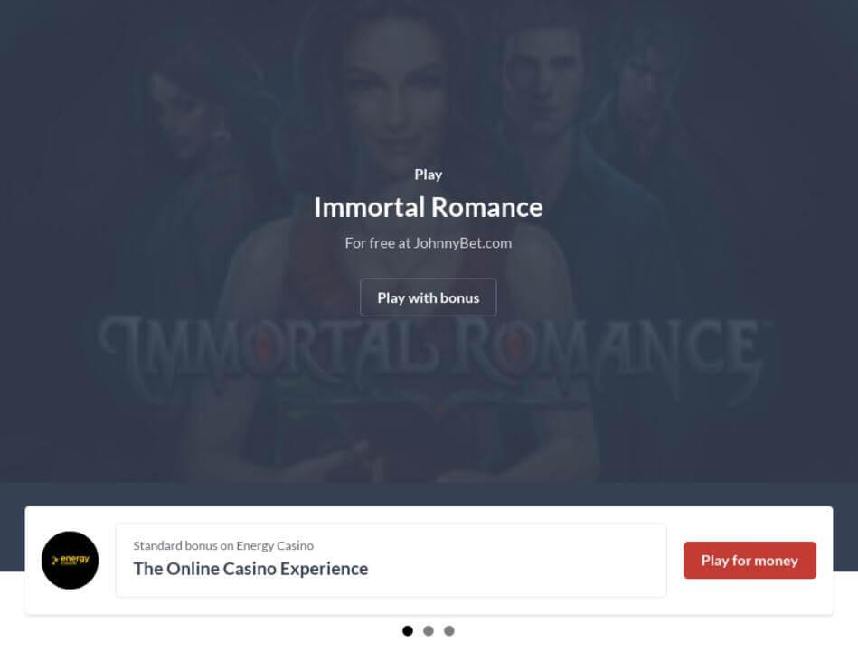 Immortal Romance Slot Machine Online