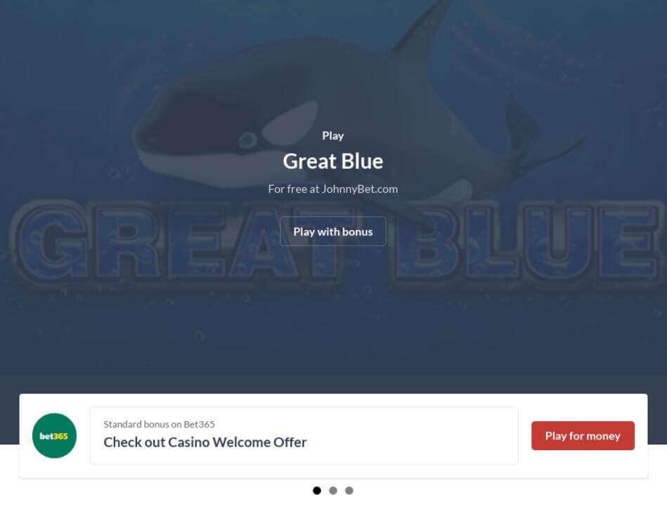 Great Blue Slot Machine Game Online